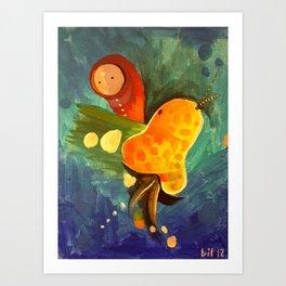 Laying Eggs Art Print