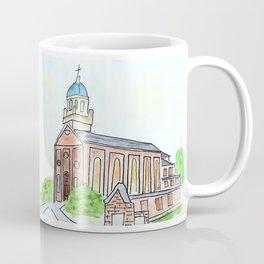 University of Dayton watercolor, UD Chapel, Dayton, OH Coffee Mug