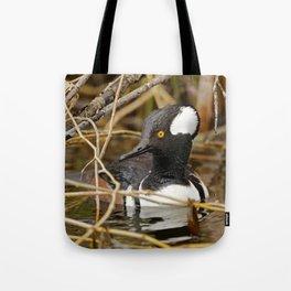 Hooded Mergser in the Wetland Tote Bag