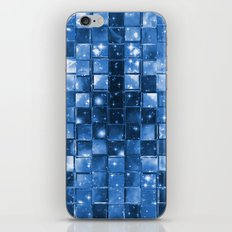 Blocky Blue Stars iPhone & iPod Skin