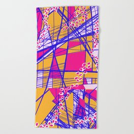 Bright Geo Beach Towel
