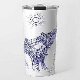 Eiffel Tower in Blue Travel Mug