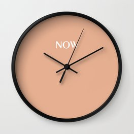 NOW PEACH NOUGAT pastel solid color Wall Clock