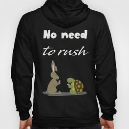 No Rush - Black Hoody