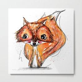 Little fox Metal Print