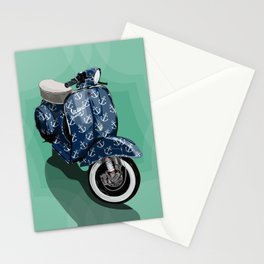 Vespa Vector Sailor Stationery Cards