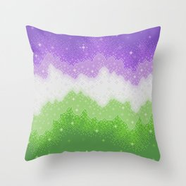 Genderqueer Pride Galaxy Throw Pillow