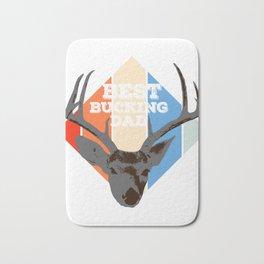 "Great Shooting Shirt For Hunters Saying ""Best Bucking Dad"" T-shirt Design Hunting Rifle Gun Bath Mat"