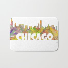 Chicago, Illinois Skyline MCLR 2 Bath Mat