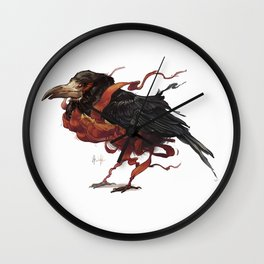 Tapestry Rook Wall Clock