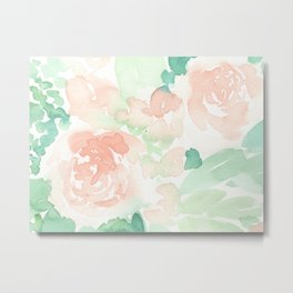 Peach Flowers Metal Print