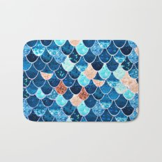 REALLY MERMAID BLUE & GOLD Bath Mat