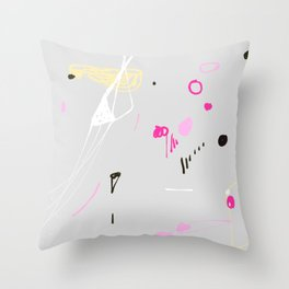 Pink and black funfair Throw Pillow
