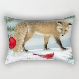The Fox And The Cardinal Rectangular Pillow