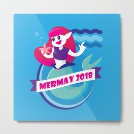 Cute Mermay Mermaid Art Challange Metal Print