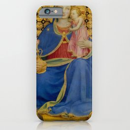"Fra Angelico (Guido di Pietro) ""Madonna of Humility"" 1433-1435 Thyssen-Bornemisza Museum iPhone Case"
