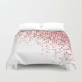Red corner mosaic Duvet Cover