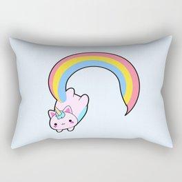 Kawaii proud rainbow cattycorn Rectangular Pillow
