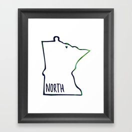 We are the North Framed Art Print