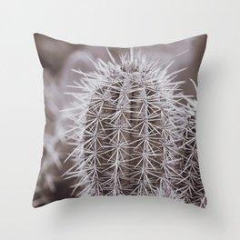 Black & White Cactus Print | Photography art Throw Pillow