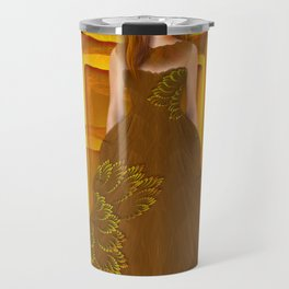 Autumn ball gown Travel Mug