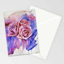 A ROSE BY ANY OTHER NAME- RED & BLUE  Stationery Cards
