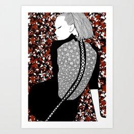 La femme 16 Art Print