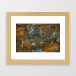 Blue Lagoons in Rusty World Framed Art Print