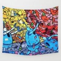 graffiti Wall Tapestries featuring Graffiti by Studio Samantha