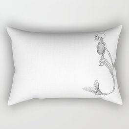 Mermaid Skeleton Rectangular Pillow