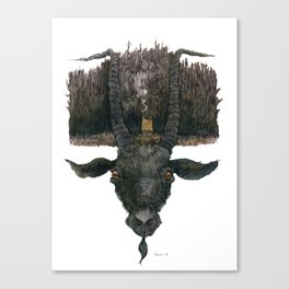 Black Phillip Live Deliciously Canvas Print