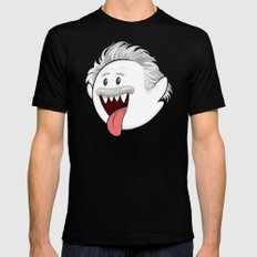 BooStein - Mario Boo and Einstein Mashup Black Mens Fitted Tee SMALL