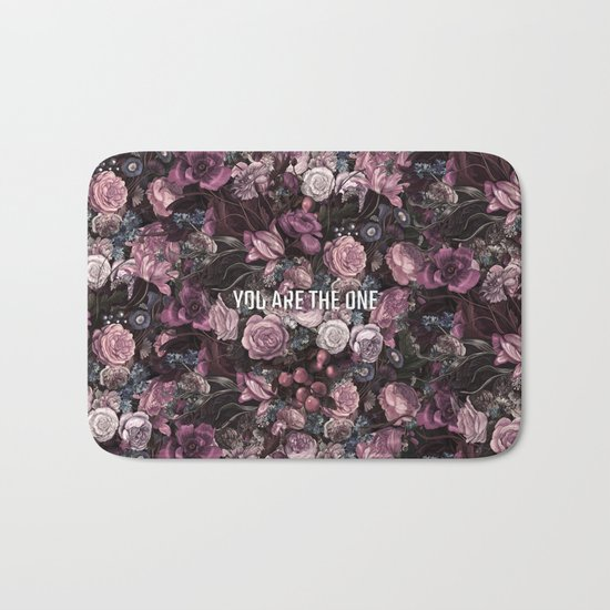 You Are The One // Floral Valentine's Heart Bath Mat