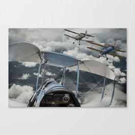 Biplane squadron Canvas Print