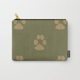Five Paw Prints Carry-All Pouch