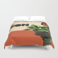 leon Duvet Covers featuring Mathilda, Leon the Professional by Natalié Art&Living