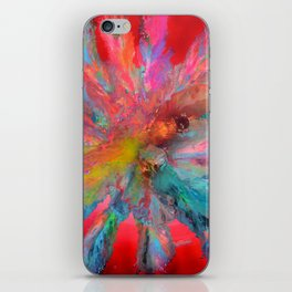 RED PANDORA - FLUID ABSTRACT PAINTING iPhone Skin
