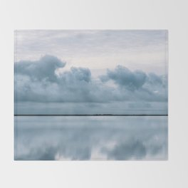 Epic Sky reflection in Iceland - Landscape Photography Throw Blanket