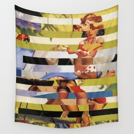Glitch Pin-Up Redux: Farrah Wall Tapestry