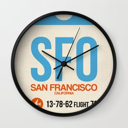 SFO San Francisco Luggage Tag 1 Wall Clock