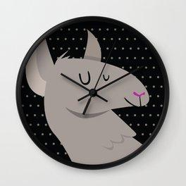 Happy Llama Wall Clock