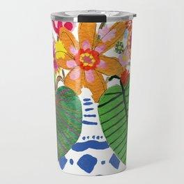 Abstract Flower Bouquet Travel Mug