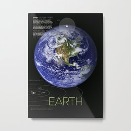 Solar System and Beyond: Earth Metal Print