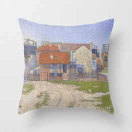Gasometers at Clichy Throw Pillow