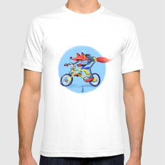 fox bike SMALL White Mens Fitted Tee