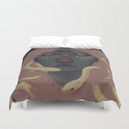 of witches and pets Duvet Cover