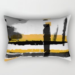 Smoke on the meadow Rectangular Pillow