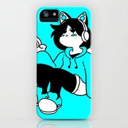 Cyan Girl iPhone Case