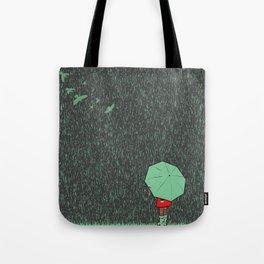 rain falls Tote Bag