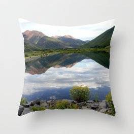 Crystal Lake on the Million Dollar Highway, elevation 9,611 feet Throw Pillow